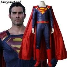 ТВ Супергерл сезон 2 Супермен Косплэй костюм карнавал Хэллоуин костюмы для взрослых Супергерл брат Супермен костюм