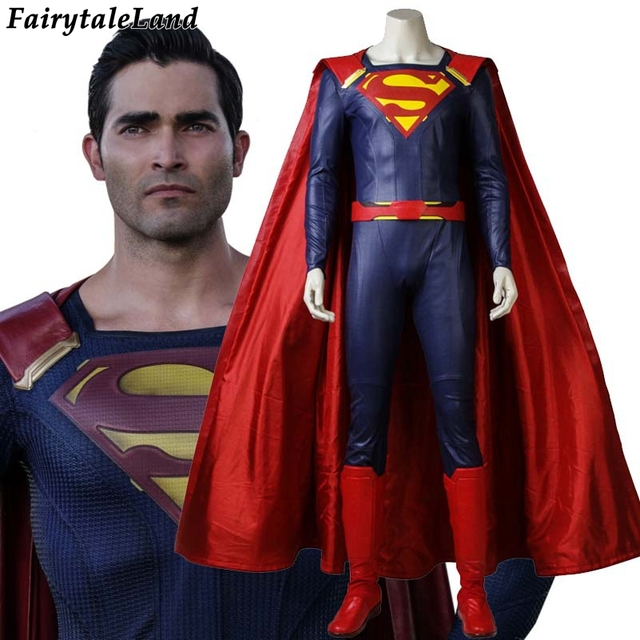 TV Supergirl Season 2 Superman Cosplay Costume Carnival Halloween costumes for adult Supergirl brother Superman costume suit