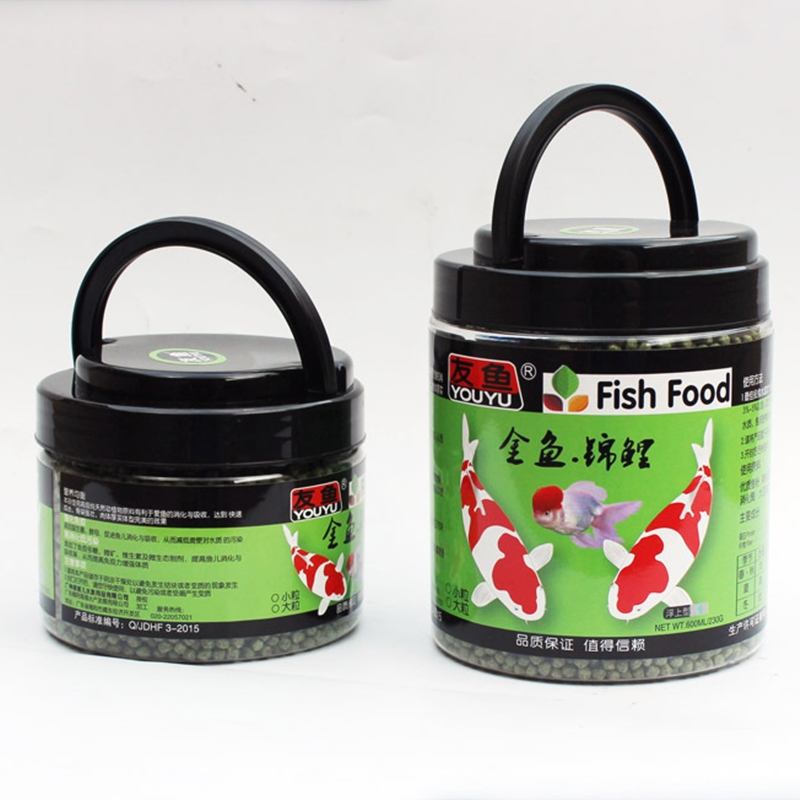 Koi Pond Fish Food Pellets Medium Floating Goldfish Pellets Vibrance Color Enhancing Spirulina Food Aquarium 3mm 1700ML/bottle