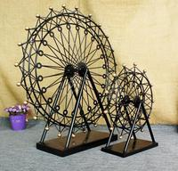 vintage retro classic Ferris wheel skywheel hand made craft metal model for home coffee bar ornaments decoration