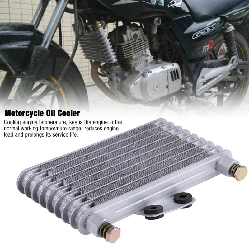 Engine Oil Cooler Oil Cooler Aluminium 125 ml Engine Oil Cooler for 125CC-250CC Motorcycle Dirt Bike ATV