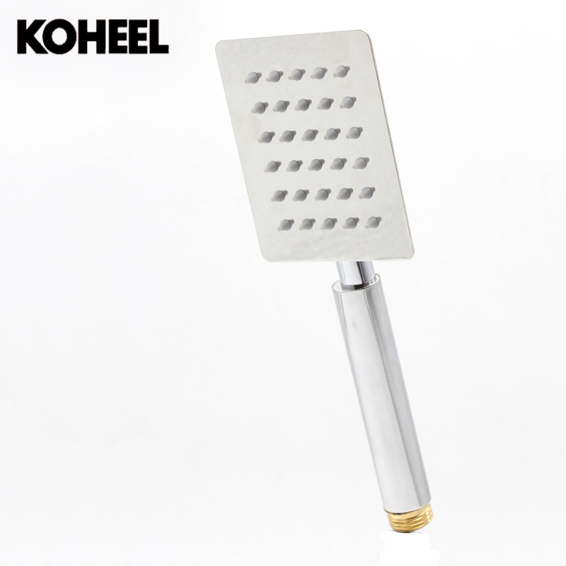 Stainless steel square hand shower nozzle Strong Ultrathin bath rainfall showerhead Smooth water spray shower head