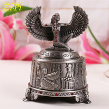 Zipi Amazingl Grace Egypt Sun god Can be rotated music Box Zinc alloy European style Creative Home Decoration Christmas gift