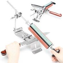 2020 NEW Iron Steel Kitchen Knife Sharpener Professional Fixed Sharpening Tools Fix Angle 120 1500Grit Stones Whetstone