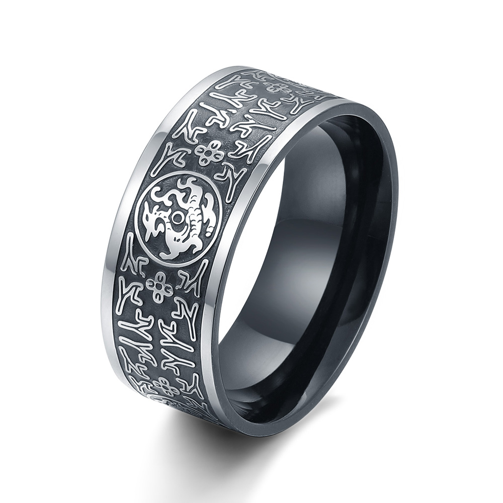 SKA Ring Anillos Soldier Men Rings For Male Titanium Steel Anillos Hombre Dsacred Animal Chinese Ethnic Costume Jewelery BR8-386 ethnic mens ring