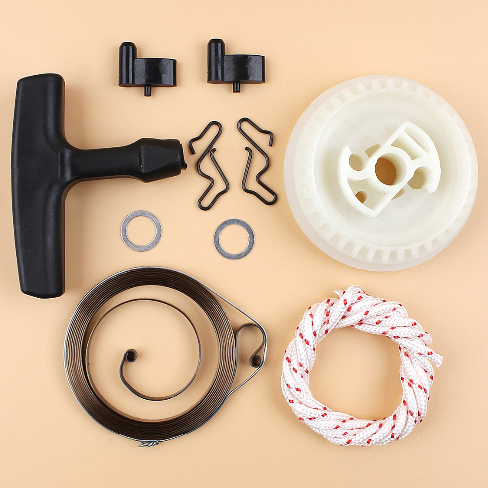 Recoil Pull Starter Spring Pulley Handle Rope Kit For Stihl//MS180//MS170 Chainsaw
