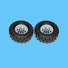2Pcs/Lot PARTS 56908 Wheel 43.2 x 26 Technic Racing Small with 6 Pinholes & 45982 Tyre 81.6 38 R Balloon Blocks Particles Toys