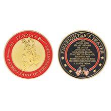 Позолоченный св. Флориан патрон Святого пожарного памятная монета сувенир вызов коллекционные монеты коллекция искусство