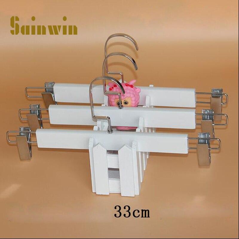 Sainwin 10pcs / lot pro dospělé a děti bílé věšáky na šaty na ramínka šaty pro vysoce kvalitní dřevěné věšáky oblečení