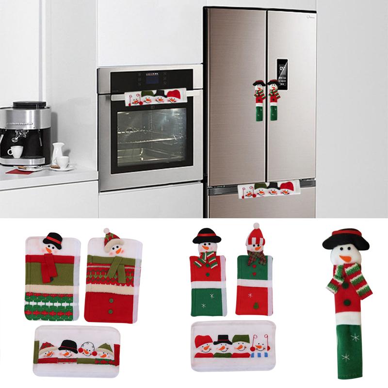 3pcs Diy Fridge Handle Covers Christmas Microwave Oven Dishwasher Door Handle Cover Pendant Drop Ornaments Aliexpress