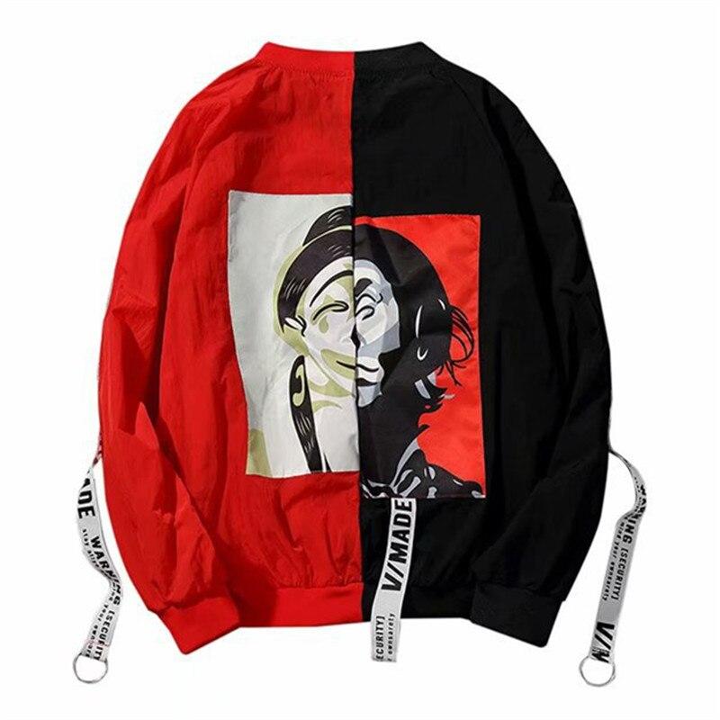 Patchwork Color Bomber Jackets Women 2019 Spring Fashion Basic Baseball Jacket Coat Women Street Style Windbreaker Jacket Female