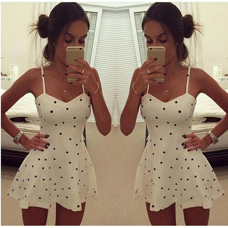 f43027459d Detail Feedback Questions about Sexy Women Summer Beach Sleeveless Bodycon Casual  Party Short Mini Dress High Waist Strapless Polk Dot Women Dress on ...
