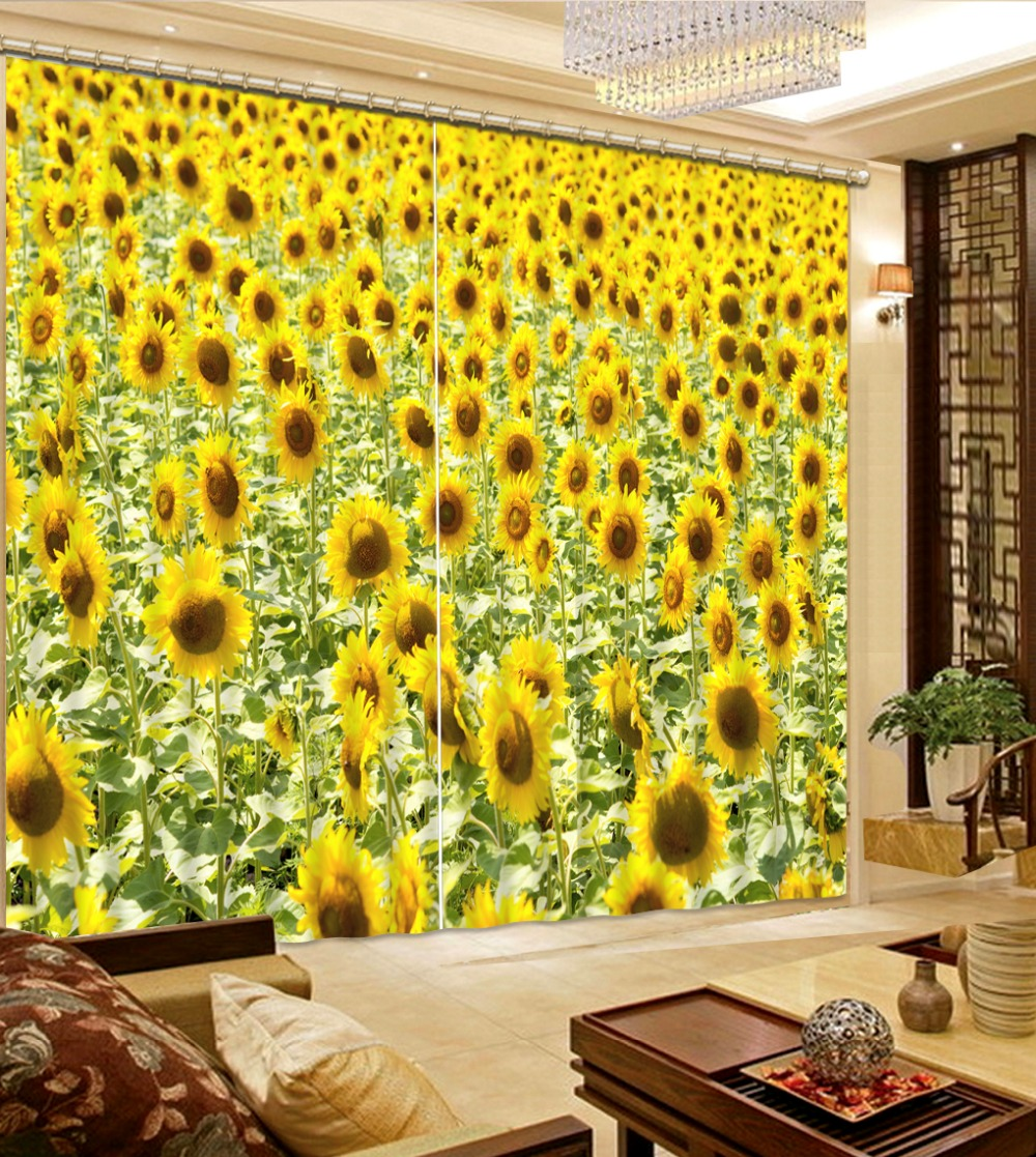 Modern luxury 3d curtain for bedroom living room bathroom curtains modern luxury 3d curtain for bedroom living room bathroom curtains blackout photos yellow flower curtains window curtains in curtains from home garden on mightylinksfo