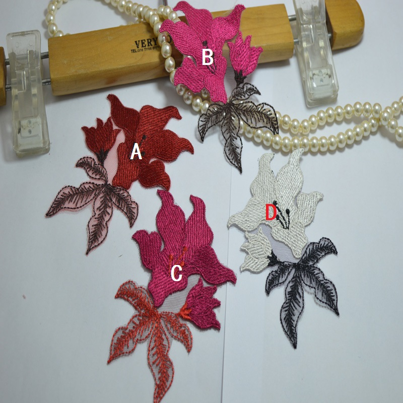 somelace 10 * 8cm (2 pezzi / lotto) 4 colori patch Applique da sposa - Arti, mestieri e cucito