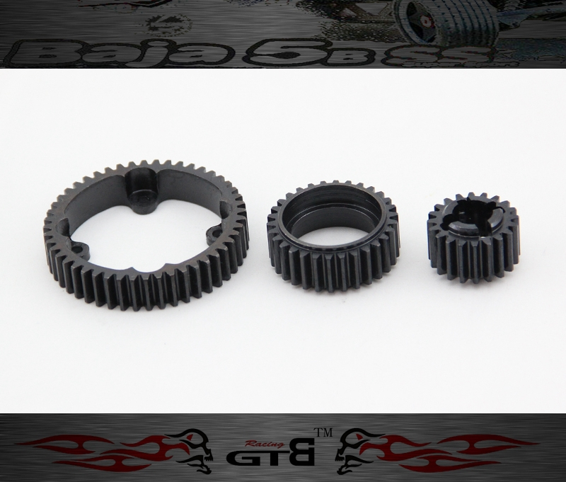 GTBRacing Steel Gear 20T 30T and 48T FOR hpi km rv baja 5b ss 5t 5sc GR047 tyon