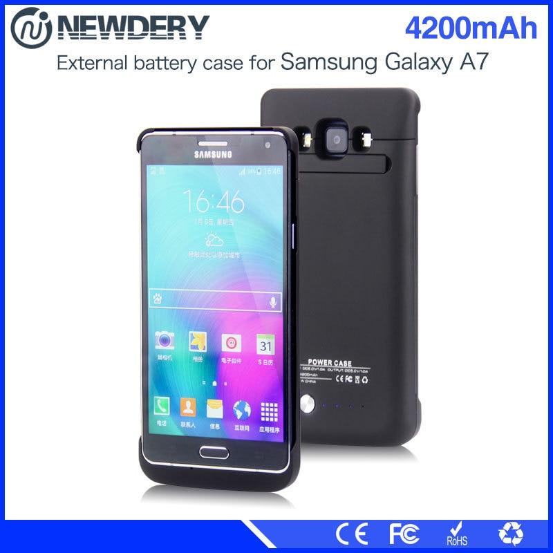 Haute capacité 4200 mAh Cas D'alimentation pour Samsung A7 Puissance Banque Batterie Chargeur Cas