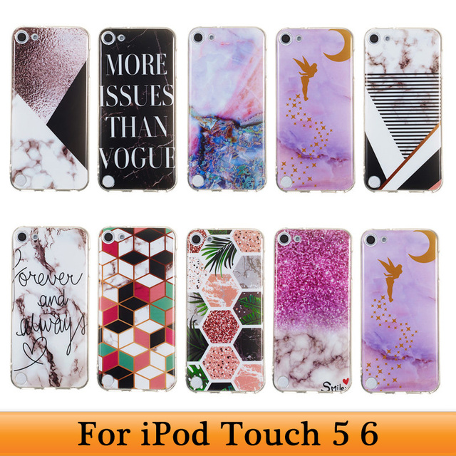 separation shoes 4bbf5 2dc06 US $1.89 5% OFF|For iPod Touch 5 6 6th Generation Soft TPU Marble Stone  Painted Cover For Touch5 Touch6 Coque iPod 5 Case iPod Touch 6 Case Capa-in  ...