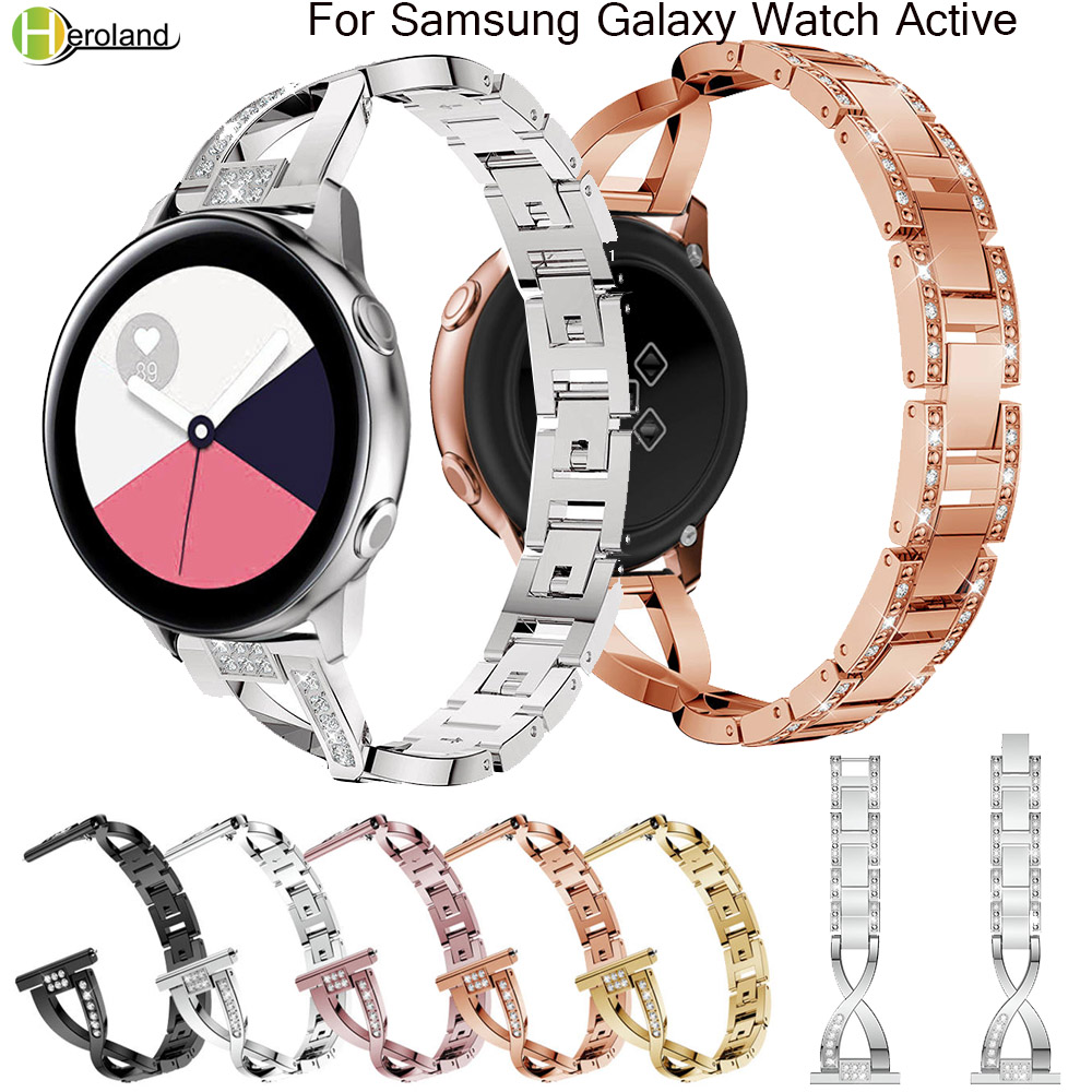20mm Stainless Steel Watch Strap For Samsung Galaxy Watch Active 40mm/42mm /s2 /s4 Smart Wristband Metal Jewelry Bracelet Bands