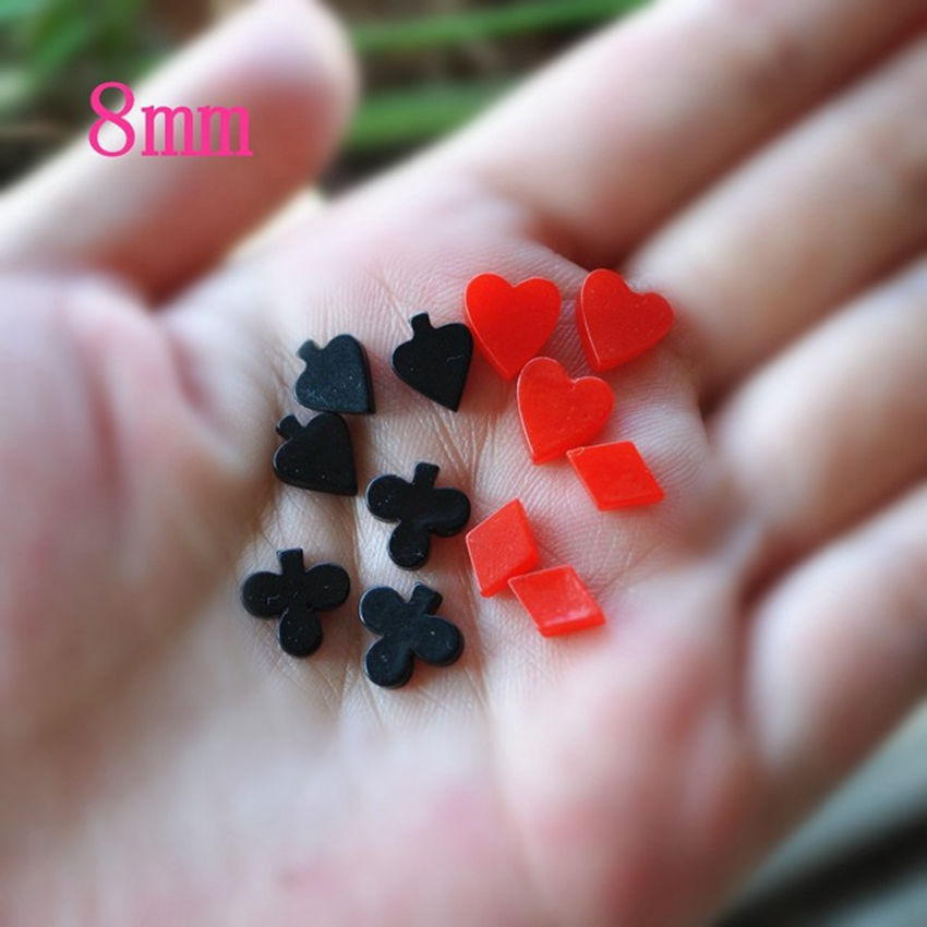 10pcs/Lot Lovely Resin Cabochon Rip Flat Back Resin Poker Small Resin Crafts For DIY Decoration - 10 Designs