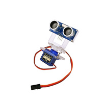 Free Shipping Obstacle Avoidance Module Mounting Bracket FPV Steering Gear Bracket Include Servos Ultrasonic