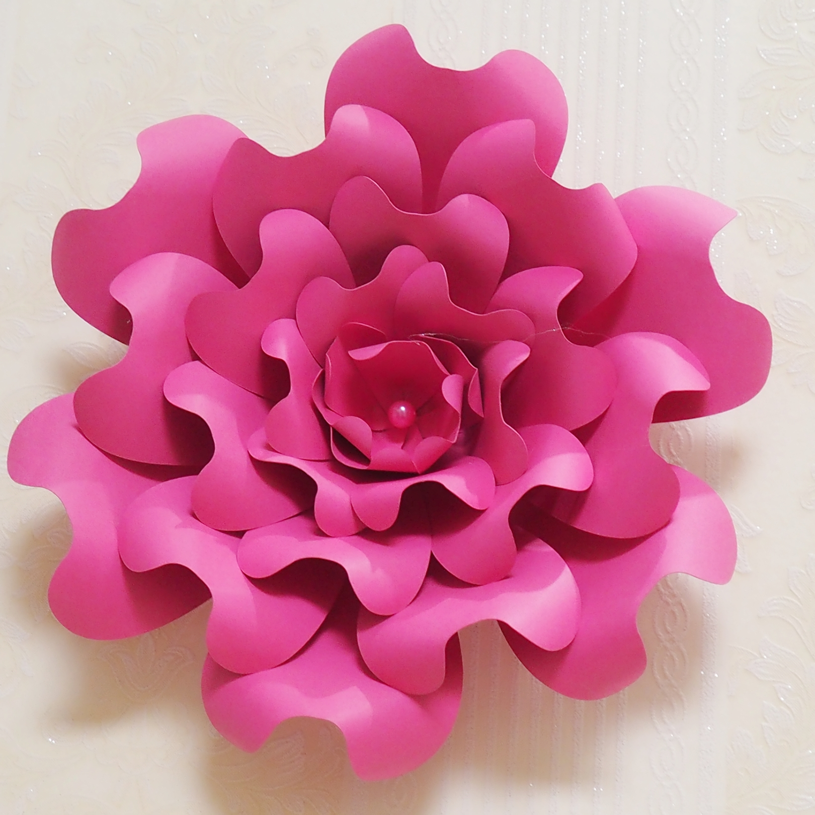 2018 Creative Giant Paper Flowers 9pcs Leaves 8 Pcs Half Made Kits