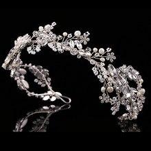 485c81049394 Cristal de plata de lujo novia Headpiece accesorios del pelo del Rhinestone  hecho a mano Tiara nupcial boda elegante mujeres fre.