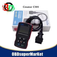 Creator lector de código C501 502 para coche, lector de código Universal OBD2, suministros, pantalla LCD a color, escáner obd II