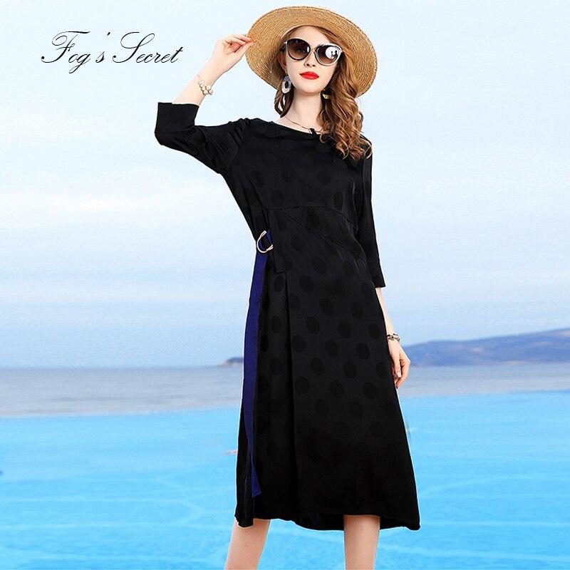 La Les Lâche Taille Noir Robes Longue Casuais 2019 Rose D'été Pour Impression Femmes rose Robe Femme De Noir Plus Marque Bw0txqg