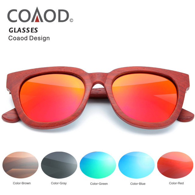 f733420d986 Redwood Glasses Frame Bamboo Sunglasses Wood Men Beach Women Frame Retro  Fashion Wood Sunglasses Polarized Lens COAOD