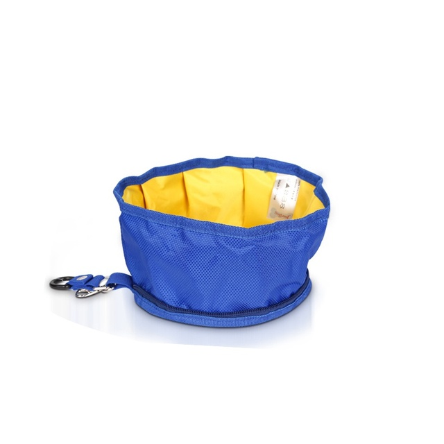 Puppy Big Dog Food Container Feeder Dish Collapsible Foldable Silicone Dow Bowl Candy Color Outdoor Travel Portable