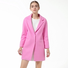 2016 Winter Coat Sale For Women Cotton Thickened Large Size Woolen Loose Thick Covered Button Drop-shoulder Cashmere Coat