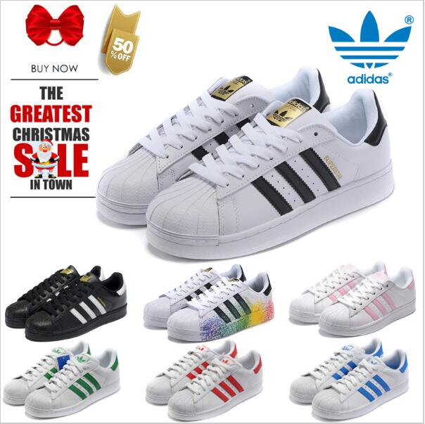 Superstar shoes Top Quality adidaseliingly New Fashion Men Women Originals superstar GOLD and black White FREE SHIPPING35