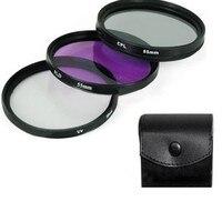 55Mm Professional Lens Filter Accessories Kit UV Mirror FLD Mirror Professional Universal Camera Lens Hood
