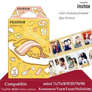 Image 1 - Fujifilm Instax Mini Film Gudetama 10 arkuszy fr Instax Mini 9 8 8 + 7s 70 90 25 natychmiastowa kamera Polariod Smartphone drukarka SP 2 1