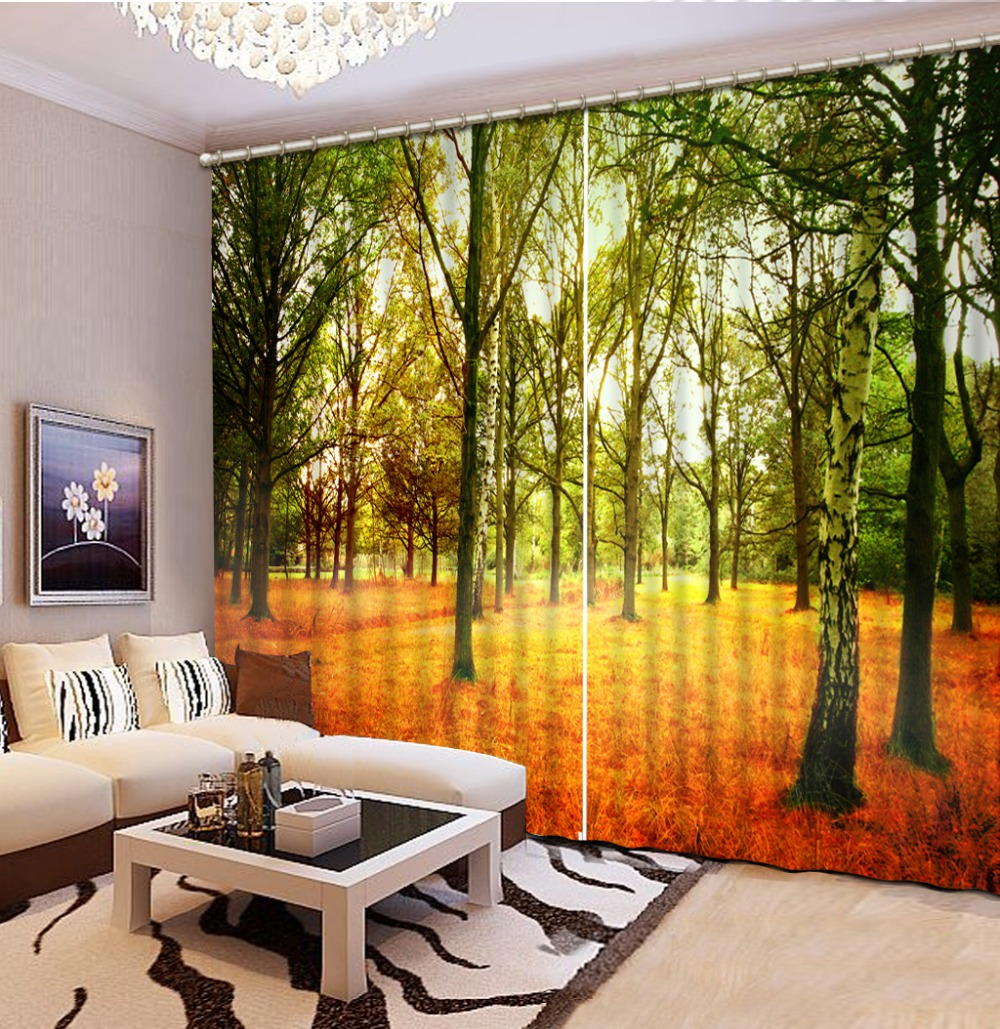 Curtain Design Fashion Customized 3D Curtain Autumn