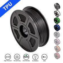 цена на TPU Flexible 3D Printer Filament 1.75mm 1 kg Spool fast ship new Black Elastic TPU 3D printing material