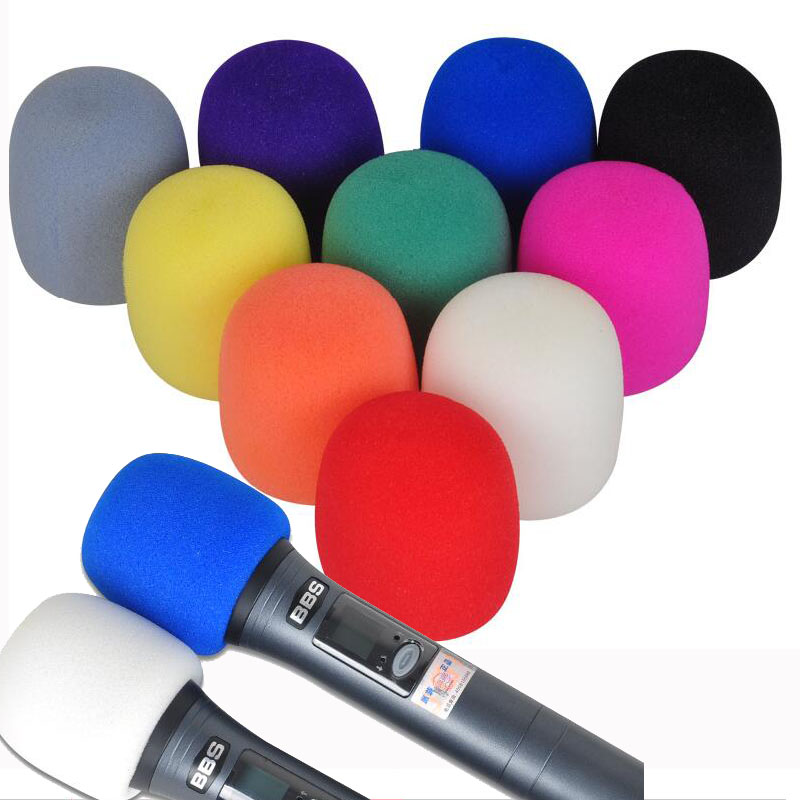 Thicken Microphone Foam Mic Cover Professional Studio WindScreen Protective Grill Shield Soft Sponge Microphone Cap
