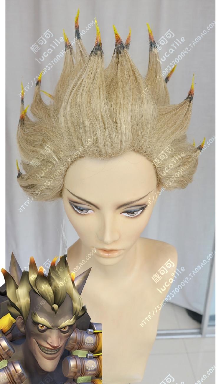Anime   Junkrat  Cosplay Wig Costume Heat Resistant + Cap +Track Number 0001 anime sailor moon mizuno ami short cosplay wig costume heat resistant cap track number