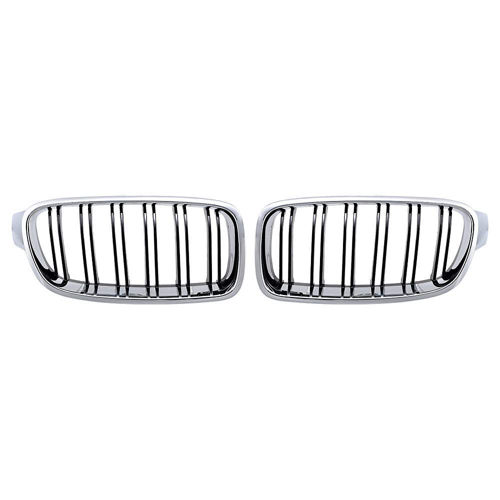 Front Kidney Grille Grill For 2012 2017 F30 320i 328i 335i 4 Door Double Line Glossy