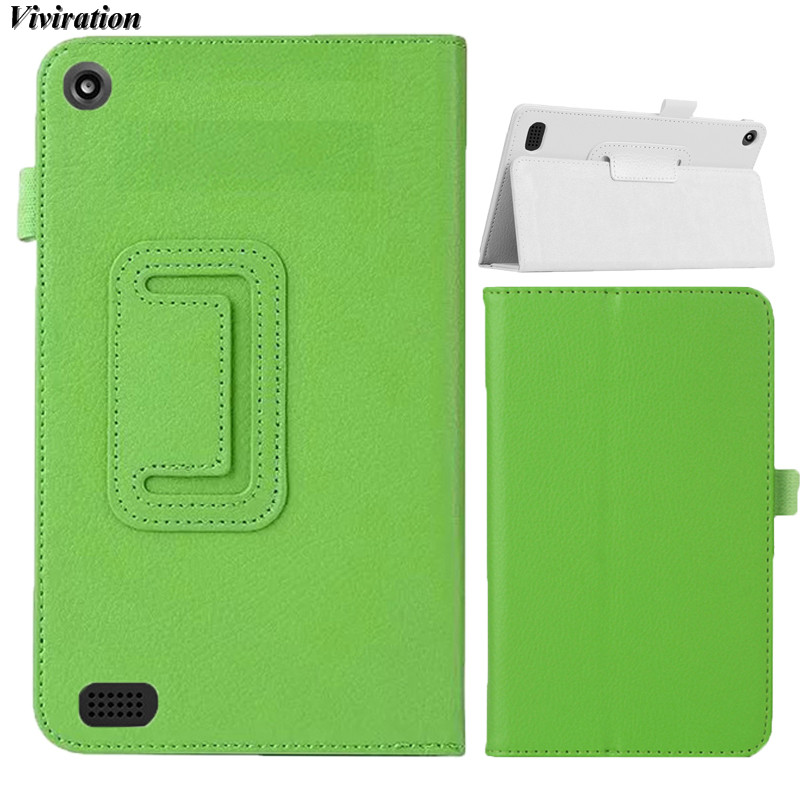 Viviration Fashion PU Case For Amazon Kindle New Fire HD 7 2015 7 Tablet Cover 2018 New Arrival Stand Cover Tablet Accessories