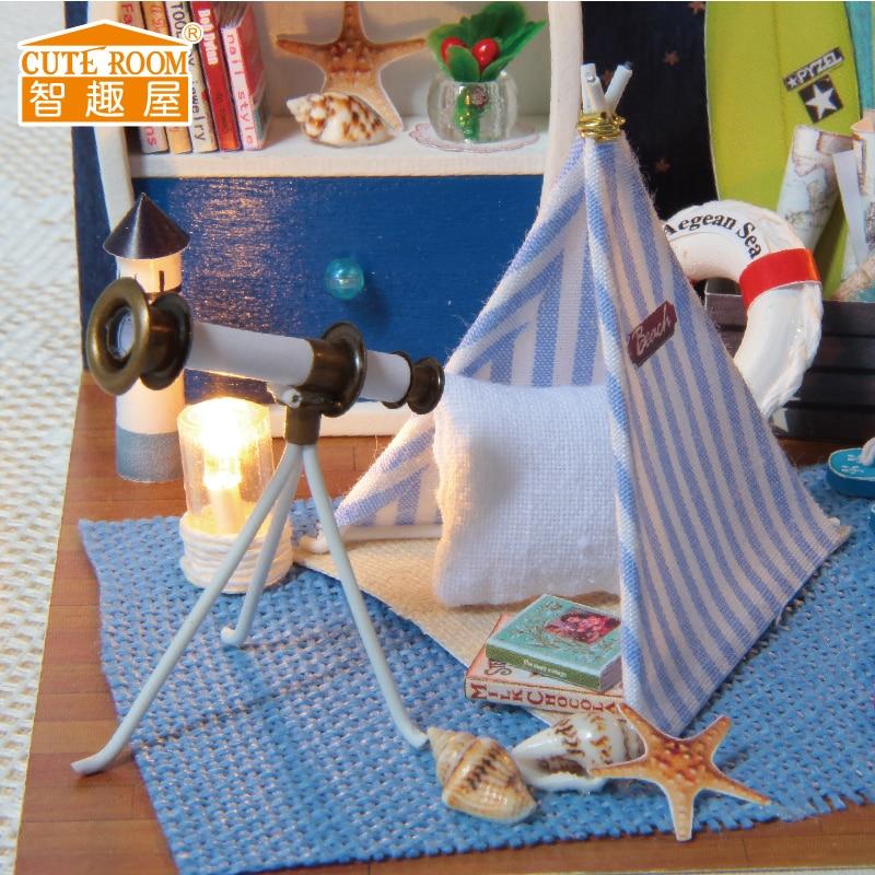 Namještaj DIY Kućica za lutke Wodden Miniatura Kućice za lutke - Lutke i pribor - Foto 5
