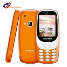 """Vkworld Z3310 3D Экран 2.4 """"старший мобильный телефон Громкий Динамик FM радио светодиодные 2MP Dual SIM 1450 мАч Беспроводной FM мини сотовый телефон"""