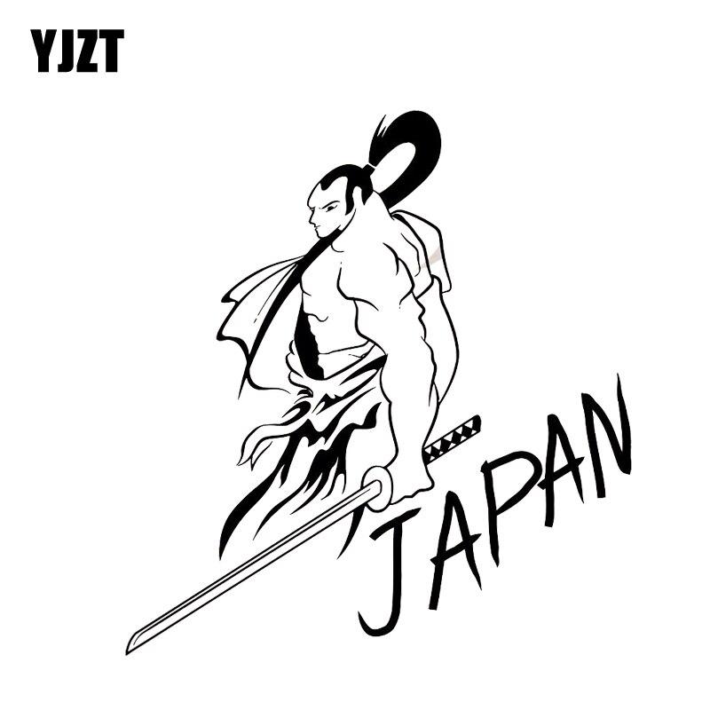 87.76руб. 40% СКИДКА|YJZT 13,1*14,1 см покрытие тела крутая Мода Япония самурайский воин солдат автомобиля стикер черный/серебристый винил C21 0038|Наклейки на автомобиль| |  - AliExpress