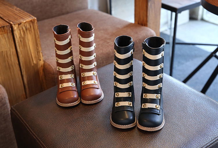 Hot Sell Children Shoes PU Leather Waterproof Kids Snow Boots Brand Girls Boys Rubber Boots Fashion Winter Sneakers Baby Boots