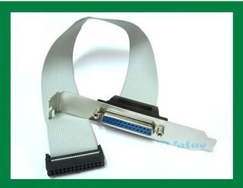 100pcs Internal mainboard Motherboard Parallel LPT DB25 25Pin Printer print Port parallel Cable host case rear bracket PC 30cm