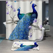 цена на Shower Curtain 3d Number Printing Shower Curtain Polyester Fiber Defence Water Bath Curtain