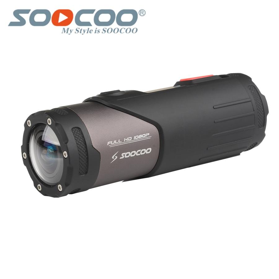 Caméra d'action originale de SOOCOO S20WS, imperméable à l'eau 10 M 1080 P Full HD vélo vélo casque Mini colonne de Sport en plein air DV cam