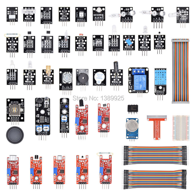 Free Shipping Sensor Module Kit For Raspberry Pi Model B+ With GPIO Extension Jumper for raspberry pi 3