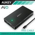Aukey para xiao mi xiaomi 20000 mah carregamento rápido banco de potência 20000 mAh Com Dual USB Portátil Bateria Externa Inteligente telefone