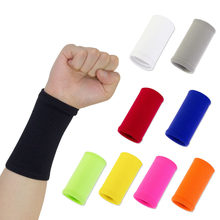 Wrist Sweatband in 9 Different Colors,Made by High Elastic Meterial Comfortable Pressure Protection,Athletic Wristbands Armbands(China)